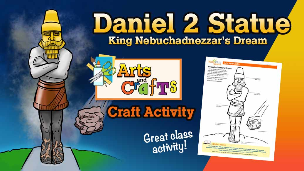 Daniel 2 Statue Coloring Craft Worksheet image